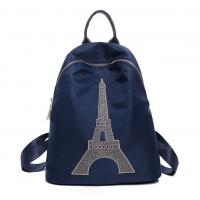 Wholesale Eiffel Tower handbag new shoulder bag fashion in Europe and America Fan waterproof nylon backpack schoolbag tide female from china suppliers