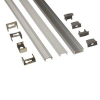 Wholesale Silver Matt Square / Round Anodized Aluminium LED Profiles For LED Frame from china suppliers