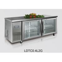 Wholesale 1800x800x800 440L Ventilated Refrigerated Prep Table For Kitchen , 2 door from china suppliers