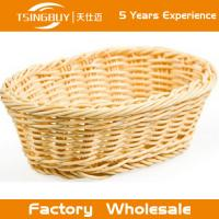 Wholesale Factory wholesale high quality 100% nature handcraft rectangular rattan basket decoration rattan wicker bread baskets from china suppliers
