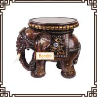 Wholesale Wholesale Resin elephant stool figurine home decoration novelty house crafts A0545M from china suppliers