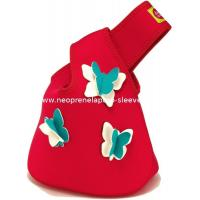 Wholesale Red Handy Insulated Lady Neoprene Shopping tote Bag case with butterfly embrodery from china suppliers