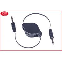 Wholesale 3.5MM Male To Male Two Way Retractable Cable Flast PU 80CM Charger Cord from china suppliers
