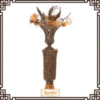 Wholesale factory custom-made handmade carved fashion resin floor flower vases A0186G+8814G from china suppliers