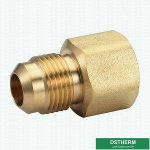 China 45 Degrees Brass Angle Flare Fitting female Threaded Union Coupling Pipe Fittings For Civil Use on sale