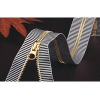 Separating Invisible Gold Plated Zipper / Metal Zippers For Jackets