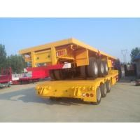 China tri-axle flatbed 40 ft container transportation trailer with 12 twist locks on sale
