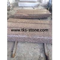 Wholesale G687,Peach red,Blossom red granite kerbstone,curbstones,curbs from china suppliers
