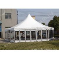 Wholesale Polygon Transparent Glass Wall wedding canopy tent high peak Aluminum Frame from china suppliers