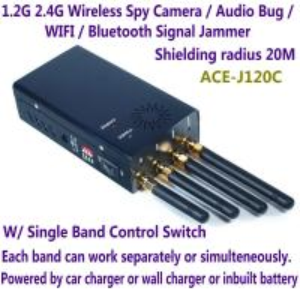 Audio bug detector - WiFi / Bluetooth / Wireless Video Jammer