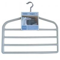 Wholesale Pants Hangers, 4-Bar Trousers Hanger, Flocked Pants Hanger (LD-P052) from china suppliers