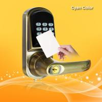 Wholesale Smart RFID Card Door Lock High Tech Technology With Voice Prompt Speaker from china suppliers