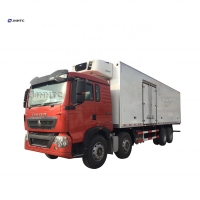 Wholesale Sinotruk HOWO 45cbm freezer refrigerator 8x4 refrigerated truck 20 ton refrigerating Heavy Truck from china suppliers