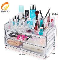 Buy cheap Acrylic organizers for makeup Acrylic organizer makeup With 2 drawers from wholesalers
