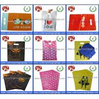 Wholesale Glossy LDPE Die Cut Handle Shopping Bags Retail Merchandise Type Biodegradable from china suppliers