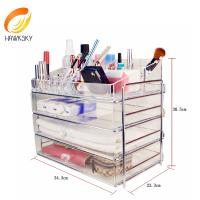 Wholesale Acrylic box makeup Acrylic boxes Acrylic makeup drawers from china suppliers
