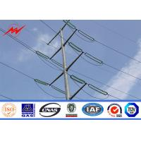 Buy cheap 20m Electric Galvanized Electric Power Steel Pole Single Arm Type For 33kv substation structure from wholesalers