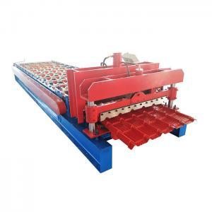China 4kw 3m/Min Panasonic Glazed Tile Roll Forming Machine on sale