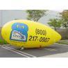 Customised PVC Inflatable Advertising Balloons Yellow Helium Zeppelin Balloon