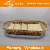 Wholesale Factory wholesale high quality 100% nature handcraft wicker fruit basket decoration rattan wicker bread baskets from china suppliers