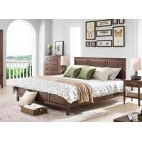 Oak Dark Wood Bedroom Furniture Classical Style , Home Solid ...