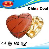Wholesale Heart Shape With Football Painted Leather Box For Chocolate from china suppliers