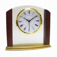 Wholesale Skeleton Desk Clock in Glass Stand, Measures 150 x 165 x 50mm, OEM Orders are Welcome from china suppliers