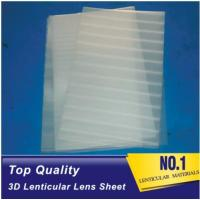 Wholesale Plastic Lenticular super transparent thin161lpi 0.25mm PET 3d lenticular lens plastic sheet film for UV offset prining from china suppliers