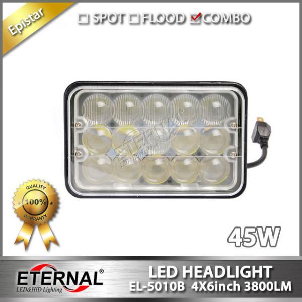 Farm Equipment Headlights : Led headlight w tractor trailer truck headlamp h