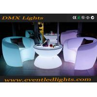 China Muti-colors changing remote control Light Led Rotational Outdoor Bar LED Tables And Chairs wholesale