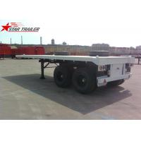 Wholesale Two Axle 20FT 8 Tires White Flatbed Car Trailer With Twist Locks , Long Life from china suppliers