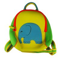 Wholesale Zippered Cute yellow neoprene children backpack camping bag with elephant embroidery from china suppliers