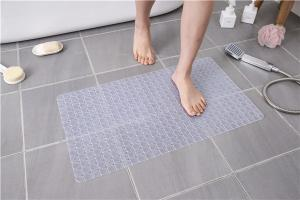 Wholesale PVC ISO 9001 Anti Slip Bath Tub Mat Transparent Shower Mat from china suppliers