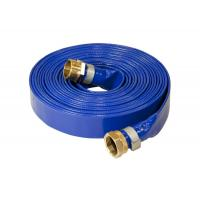 China Durable PVC Layflat Hose / Pipe UV Resistant Flexible With Coupling Fittings on sale