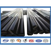 Wholesale Black Tar Painted Hot Dip Galvanized Steel Pole Coating Octagonal Pole from china suppliers