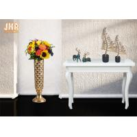 Wholesale Trumpet Shape Floor Vases Homewares Decorative Items Gold Leafed Fiberglass Table Vases from china suppliers