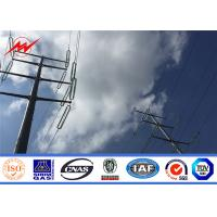 Buy cheap 10KV ~ 500KV HDG Electric Steel Pole Power Pole for Power Transmission Line from wholesalers