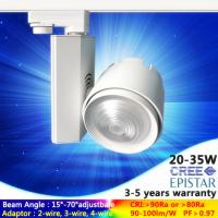 Wholesale AC230V 15W to 35W black/white LED track light in zoom lens wide/narrow angle free adjust from china suppliers