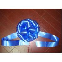 Windshield Pom Pom Bow ribbon for wedding car , large gift loop bows for ceremony