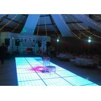 China Disco Interactive LED Dance Floor For Decoration , Wedding Dance Floor Hire Acrylic Material wholesale
