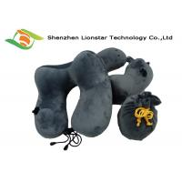 Wholesale Hump Design Inflatable Travel Pillow With Ear Plugs And Drawstring Bag from china suppliers