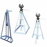 Wholesale Column Frame 5 Ton 50KN Mechanical Cable Reel Stand from china suppliers