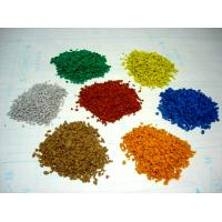 Kindergarten EPDM Rubber Granules , 2-4mm / 3-5mm Vivid Color Recycled Rubber Crumb
