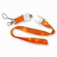 Wholesale Lanyard USB Flash Drive with Up to 32GB Memory Capacity, Available in Pantone Matched Colors from china suppliers