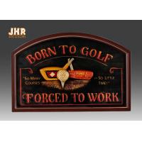 Wholesale Golf Club Wall Decor Decorative MDF Wall Plaques 3D Wall Art Signs Pub Sign Green Color from china suppliers