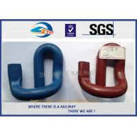 Buy cheap Corrosion Resistance 60Si2CrA E Shape Elastic Rail Clips / Rail Fast Clip from wholesalers