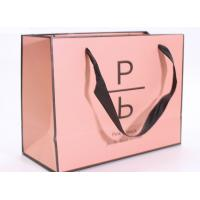 Wholesale Accurate Printing Pink Paper Carrier Bags , Fancy Boutique Shopping Bags from china suppliers