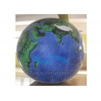 Quality Durable PVC Earth Globe Balloons Inflatable Earth Map Ball with LED Light for sale