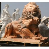 Wholesale Nature Stone carving lions statue pink marble animal sculpture,stone carving supplier from china suppliers