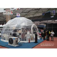 China Transparent PVC Fabric Geodesic Dome Tent Steel Structure for Exhibition And Promotion wholesale